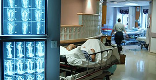 Photo of hospital hallway